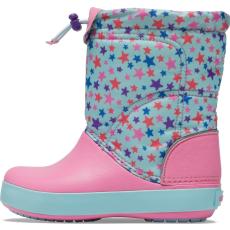 Crocs CB LodgePoint Graphic WntrBt K Ice lány hótaposó 27,5 rózsaszín