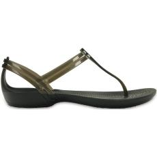 CROCS Women's Crocs Isabella T-strap Sandal papucs D