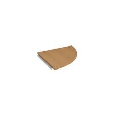 Cross asztal összekötőlemez, 80 x 80 cm (90o), jobbos kivitel, negyedkör, bÜkk mintázat irodabútor