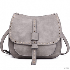 Cross Miss Lulu London LT1727 - Miss Lulu Suede Effect Cross Body Saddle táska szürke