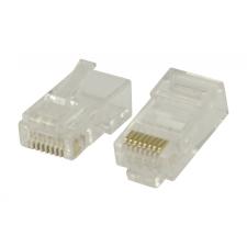 Csatlakozó RJ45 Sodrott UTP Vezetékekhez CAT6 Dugasz PVC Átlátszó kábel és adapter