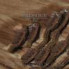 Csatos eredeti póthaj 60 cm világosbarna/aranyszőke/platina szőke