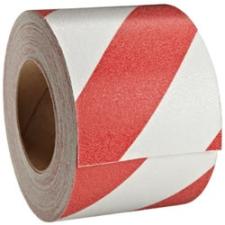 Csúszásmentes Padlójelölő-ragasztószalag Piros-Fehér 50mmx18m ragasztószalag