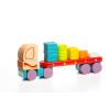 CUBIKA 13425 geometriai alakú teherautó - fa szúrófűrész 19 darab