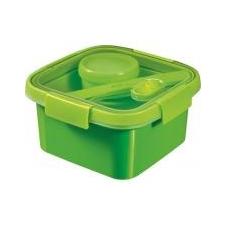 """CURVER Ételtartó, evőeszközzel, 1l, CURVER, \""""Smart to go\"""", zöld kulacs, kulacstartó"""