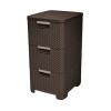 CURVER Rattan szekrény stílus 3x14L sötétbarna