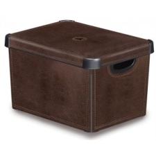 CURVER Tárolódoboz, tetővel, 22 l, bőrhatású, CURVER papírárú, csomagoló és tárolóeszköz