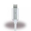 Cyoo USB kábel iPhone 5/5S/SE/6/6S/7 mágneses kábel 1m, ezüst