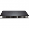 D-Link 48-port 10/100/1000 Layer 2 Stackable Managed Gigabit Switch including 4-port Combo 1000BaseT/SFP with Standard I