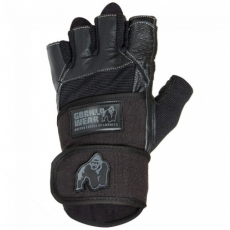 DALLAS WRIST WRAP GLOVES (BLACK) [3XL]