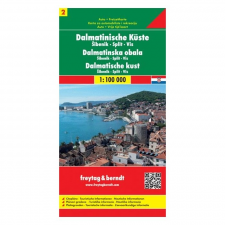 Dalmát tengerpart 2. térkép / Sibenik - Split - Vis / freytag & berndt térkép