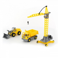 Darus építkező készlet autópálya és játékautó