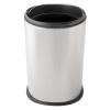 DAY-CO METAL Fedél nélküli, rozsdamentes acél szemetes kuka, 20 liter, 27,5x42cm, fényes 430S.S. 4db/karton