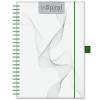 DAYLINER InSpiral, A5 Notes, vonalas jegyzet, Fehér-Zöld