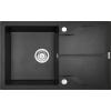 Deante 'Deante ANDANTE FLUSH Gránit mosogató, 1 medence + csepegtető, metál fekete, 780 x 490 mm'