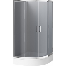 Deante 'Deante Funkia félköríves zuhanykabin tálca nélkül grafit üveggel' kád, zuhanykabin