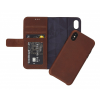 Decoded 2-1-ben Wallet iPhone X bőr tok – brown