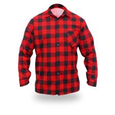 DEDRA BH51F1-XXL flanel ing piros, méret xxl, 100% pamut munkaruha