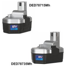 DEDRA DED78715MH akkumulÁtor ni-mh 12v, 1,2 ah pro ded7871 barkácsolás, csiszolás, rögzítés