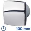 DEKOR ventilátor króm, LDATL (100 mm) időkapcsolós, görd. cs.