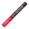 Dekormarker UNI POSCA PC-1M 0.7-1 mm, kúpos, PIROS