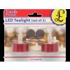delight 55245G LED-es teamécses, arany, 2db