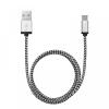 delight Adatkábel szövet bevonattal USB - Micro USB-B 1 méter