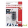 delight Delight Autós Fekete USB aljzattal szivargyújtó adapter