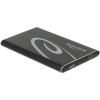 DELOCK 2.5 Külső merevlemezház SATA HDD > SuperSpeed USB 10 Gbps (USB 3.1 Gen 2) (max. 7 mm HDD)