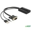 DELOCK 62597 VGA - HDMI adapter audió funkcióval