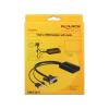 DELOCK 62597 vga - hdmi + audió adapter