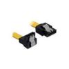 DELOCK 82806 SATA 6 Gb/s le /egyenes kábel, fém, 30 cm