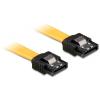 DELOCK 82809 6gb/s egyenes/egyenes sata (fémlappal) kábel - 0,5m