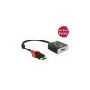 DELOCK Adapter Displayport 1.2-dugós csatlakozó > HDMI-csatlakozóhüvely 4K 60 Hz passzív fekete