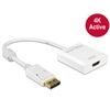 DELOCK adapter DisplayPort 1.2 (M) - HDMI (F) (4K, aktív, fehér)