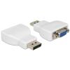 DELOCK Adapter Displayport-dugós csatlakozó > VGA-csatlakozóhüvely fehér