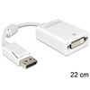 DELOCK adapter DisplayPort (M) - DVI-D (F) (fehér)