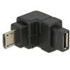DELOCK Adapter USB 2.0 Micro-B male > USB 2.0 Micro-B female angled down