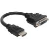 DELOCK Átalakító HDMI male to DVI 24+1 female, 20cm