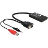 DELOCK Átalakító HDMI to VGA audió funkcióval