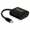 DELOCK Átalakító mini Displayport 1.1 male to HDMI female passzív, fekete