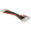 DELOCK ATX 24pin -> ATX 20pin M/F tápkábel 0.15m