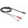 DELOCK Cable Audio DC jack 3.5 mm male -> 2 x RCA