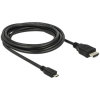 DELOCK Cable MHL 3.0 male High Speed HDMI-A male 4K 1m