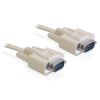 DELOCK Cable RS-232 serial Sub-D9 male / male 10 m