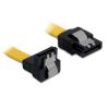 DELOCK cable SATA 30cm down/straight metal yellow