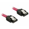 DELOCK Cable SATA 6 Gb/s straight/straight red 50c