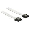 DELOCK Cable SATA FLEXI 6 Gb/s 30 cm white metal