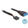 DELOCK Cable USB 2.0 pin header female > USB 3.0 pin header male 45 cm