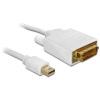 DELOCK Displayport mini -> DVI-D M/M video jelkábel 5m fehér